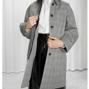 & OTHER STORIES PLAID COAT GREY US 2